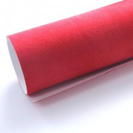 Vinyle imitation Alcantara Rouge