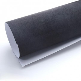 Vinyle imitation Alcantara Noir