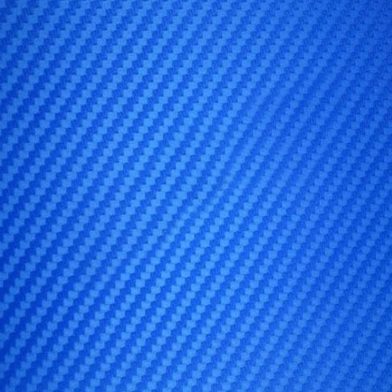 Film Vinyl Adhésif Carbone Bleu 3D Thermoformable Covering